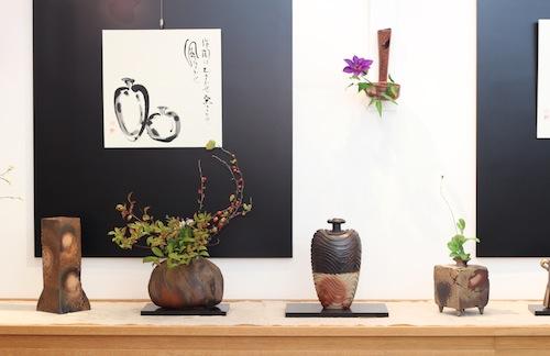 備前焼まつり「山野草活け花展」作家 小西陶藏
