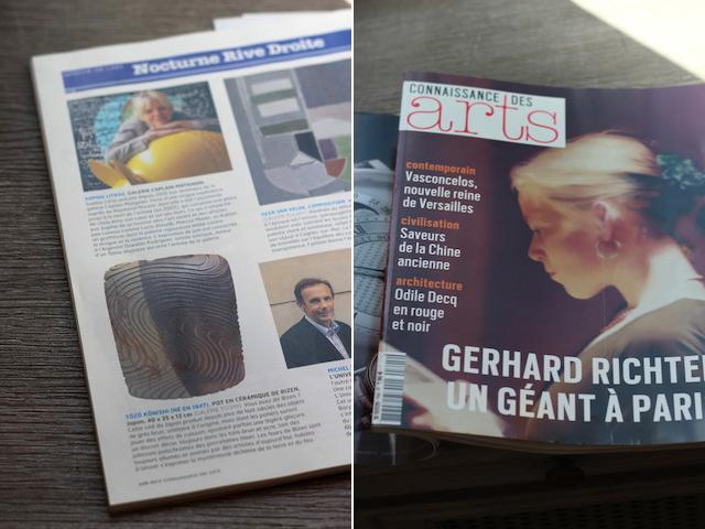 フランスの芸術雑誌にて小西陶藏の紹介記事