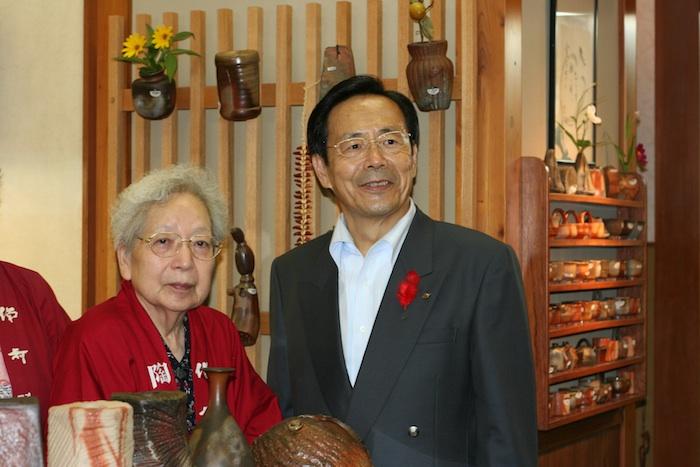 二代目 陶古と岡山県知事の2ショット